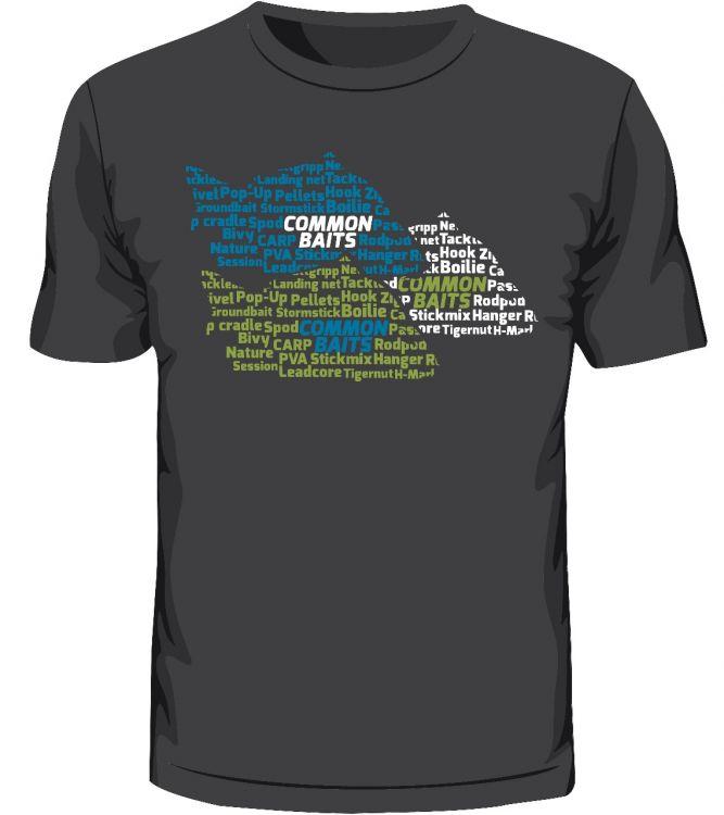 T-Shirt grau CARP LOVE COMMON BAITS