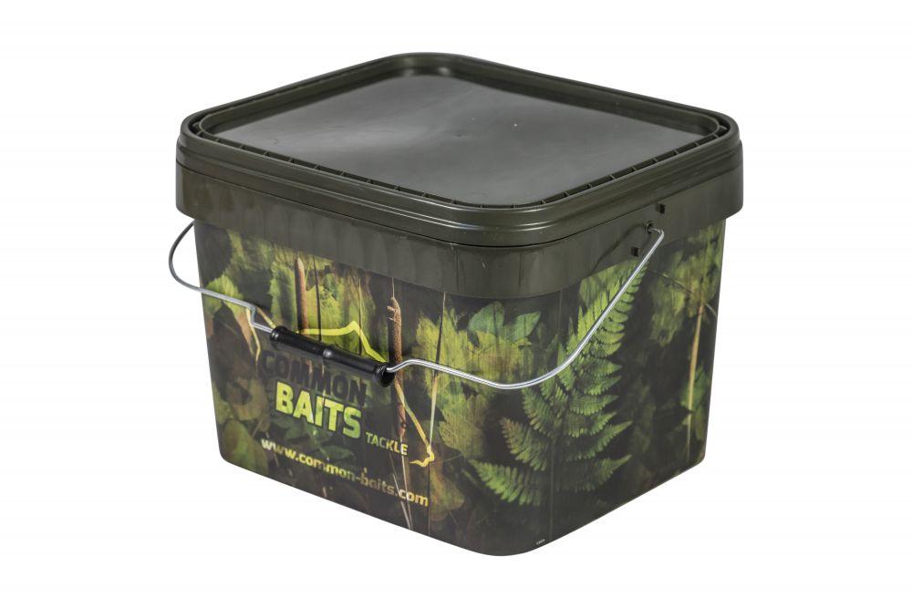 5 Stück EIMER CAMO 10L Futtereimer mit Deckel Bait Bucket Bivvy Table oliv