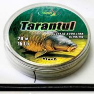 TARANTUL 20m coated hooklink braid BLACK Vorfachmaterial günstig