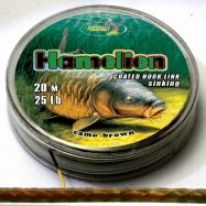 HAMELION 20m coated hooklink braid CAMO BROWN Vorfachmaterial günstig