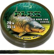 FLEX 20m braided hooklink GREEN BLACK Vorfachmaterial günstig deal