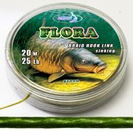 FLORA 20m braided hooklink GREEN Vorfachmaterial günstig offer online