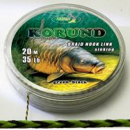 KORUND 20m braided hooklink GREEN BLACK Vorfachmaterial günstig deal