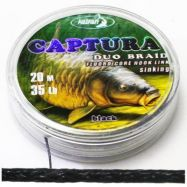 CAPTURA 20m duo coated hooklink braid BLACK Vorfachmaterial