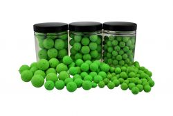 Fluo Pop Ups GRÜN / GREEN 100g 15mm Popups Pop-Ups Pop-Up