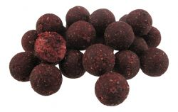 HIGH ACTIVE MULBERRY & GARLIC + ROBIN RED  Boilies 20mm MUSTER günstig