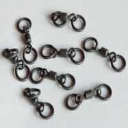CARPLEADS Chod Swivel Gr. 11 - 8 Stück - Matt Black Wirbel Rig Wibel