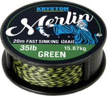 KRYSTON Merlin WEED GREEN 20m 15lb/25lb/35lb Fast Sinking Supple Braid Vorfachschnur