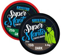 KRYSTON Super Mantis GRAVEL BROWN 20m 15lb/25lb Coated Braid Vorfachmaterial