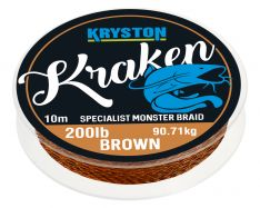KRYSTON Kraken GRAVEL BROWN 10m 200lb Monster Braid Wallervorfach
