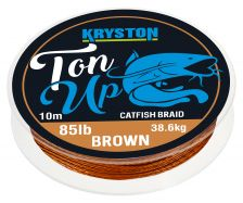 KRYSTON Ton Up GRAVEL BROWN 10m 85lb Catfish Braid Wallervorfach deal