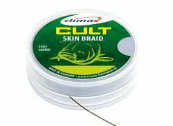 CLIMAX CULT CARP SKIN BRAID 15m 20/30lb camou green Hooklink Vorfachmaterial Braid