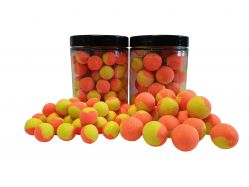 ZWEIFARBIGE Fluo Pop Ups GELB/ORANGE100g 12mm Popups Pop-Ups Pop-Up